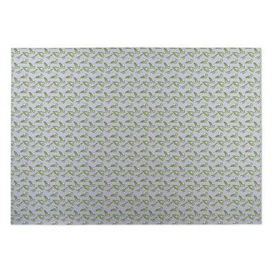 Cari Floral Indoor/Outdoor Doormat Rug Size: 8 x 10