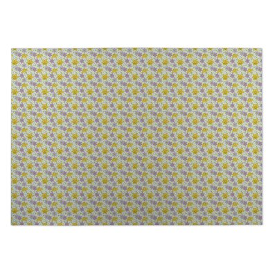 Lacy Floral Doormat Mat Size: Rectangle 4 x 5