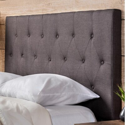 Eton Upholstered Panel Headboard Size: Twin, Color: Gray