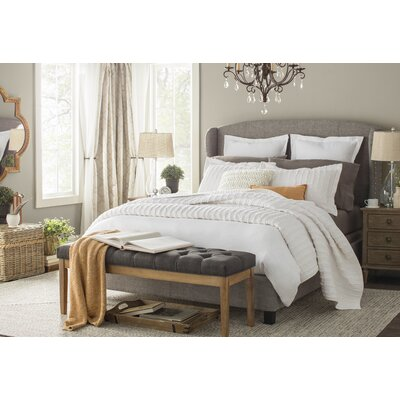 Chavelle Upholstered Panel Bed Size: Queen, Color: Gray