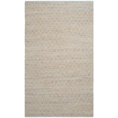 Zap Hand-Woven Silver/Natural Area Rug Rug Size: Rectangle 5' x 8'