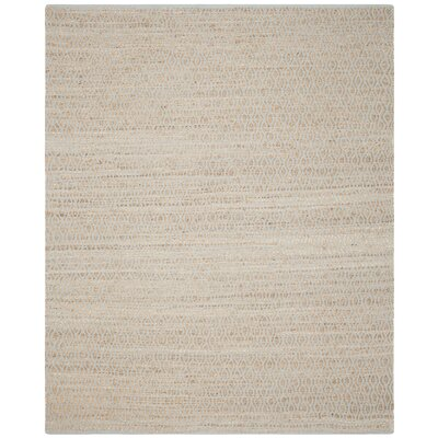 Zap Hand-Woven Silver/Natural Area Rug Rug Size: Rectangle 8 x 10