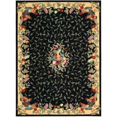 Cambridgeshire Black Area Rug