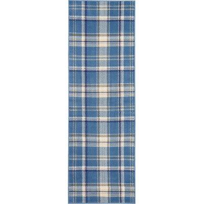 Longmont Cathcart Blue Area Rug Rug Size: Runner 23 x 76