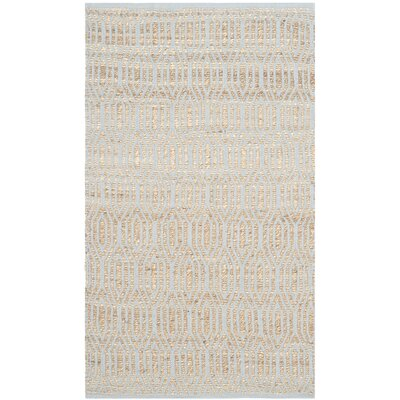 Zap Hand-Woven Silver/Natural Area Rug Rug Size: Rectangle 3 x 5