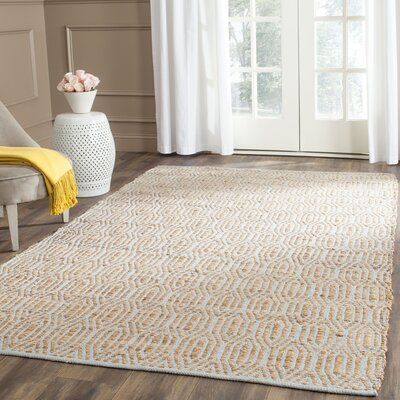 Zap Hand-Woven Silver/Natural Area Rug Rug Size: Rectangle 5 x 8