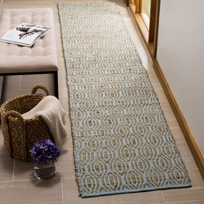 Zap Hand-Woven Silver/Natural Area Rug Rug Size: Runner 23 x 8