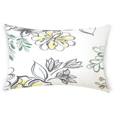 Goodrich Floral Down Filled 100% Cotton Lumbar Pillow Color: Metal