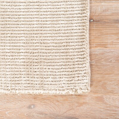 Nan Hand-Loomed Tuffett/Birch Area Rug Rug Size: Rectangle 8 x 11