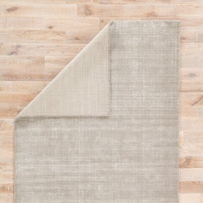 Nan Hand-Loomed Frost Gray/Birch Area Rug Rug Size: Rectangle 2 x 3