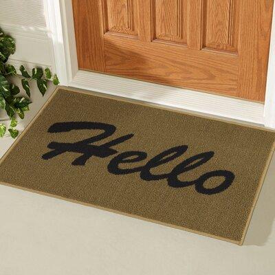 Castor Rectangular Hello Doormat