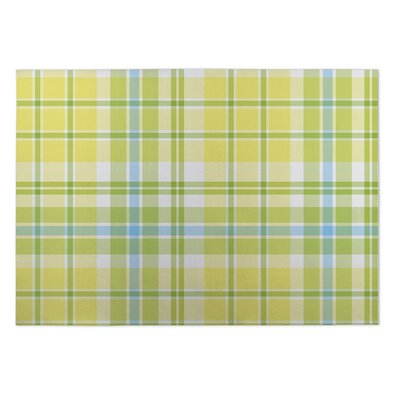 Branchburg Plaid Green Yellow Doormat