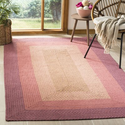 Georgina Pink & Beige Area Rug Rug Size: Rectangle 5 x 8