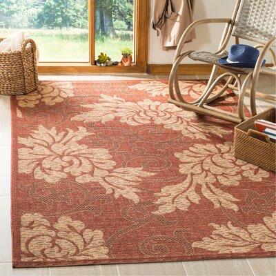 Laurel Brick/Natural Outdoor Rug Rug Size: Rectangle 53 x 77