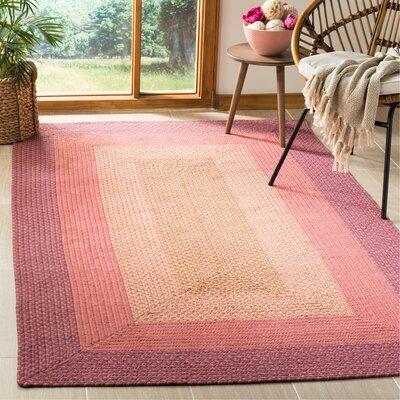 Georgina Pink & Beige Area Rug Rug Size: Rectangle 5 x 8