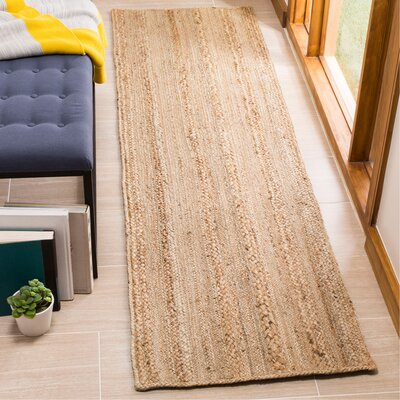 Fithian Hand-Woven Natural Area Rug Rug Size: Runner 23 x 8