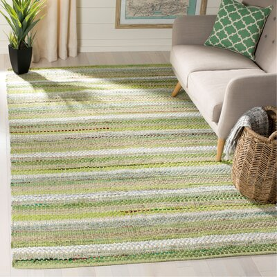 Vesey Hand-Woven Green/Gray Area Rug Rug Size: Rectangle 5 x 8