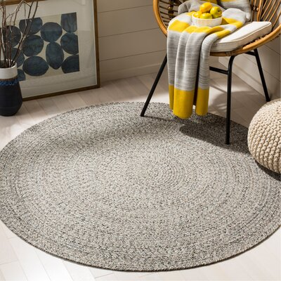 Paulina Round Hand Tufted Cotton Gray Area Rug Rug Size: Round 5
