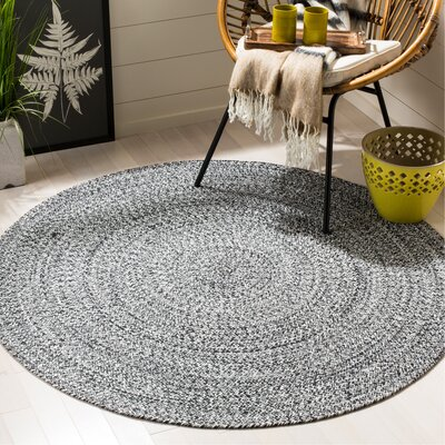 Paulina Hand Tufted Cotton Area Rug Rug Size: Round 5