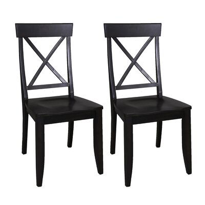 Gardner Solid Wood Dining Chair (Set of 2) Color: Charcoal