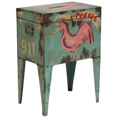 East Rolstone Rooster Ballot Box End Table