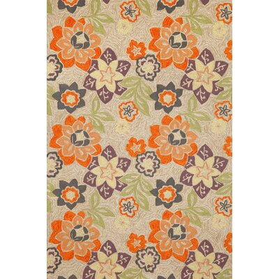 Dazey Floral Hand Hooked Purple Indoor/Outdoor Area Rug Rug Size: Rectangle 76 x 96