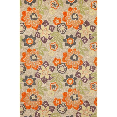 Dazey Floral Hand Hooked Purple Indoor/Outdoor Area Rug Rug Size: Rectangle 83 x 116