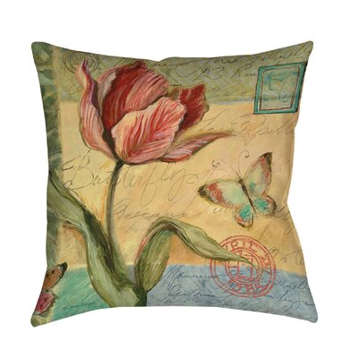 Loretta Tulip Printed Throw Pillow Size: 14 H x 14 W x 3 D