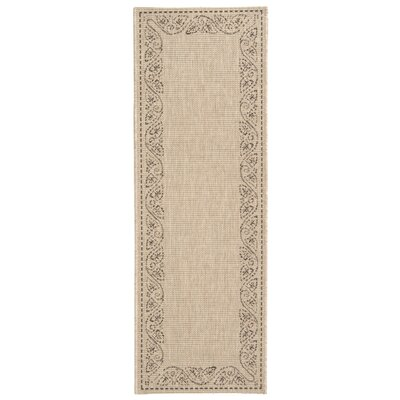Laurel Tan Outdoor Area Rug Rug Size: Runner 23 x 67