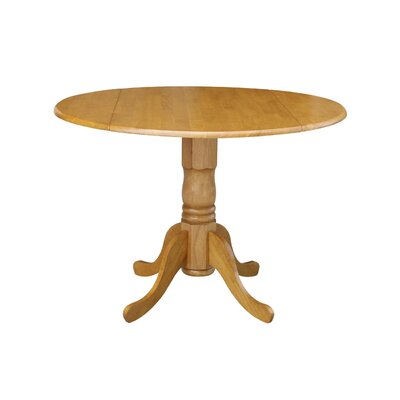 Boothby Round 42 Dual Drop Leaf Dining Table Color: Oak