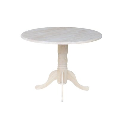 Boothby Round 42 Dual Drop Leaf Dining Table Color: Unfinished