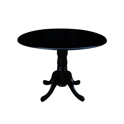 Boothby Round 42 Dual Drop Leaf Dining Table Color: Black
