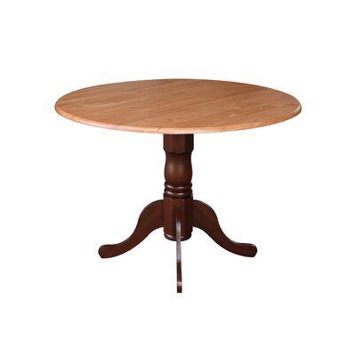 Boothby Round 42 Dual Drop Leaf Dining Table Color: Cinnamon/Espresso