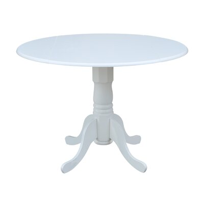 Boothby Round 42 Dual Drop Leaf Dining Table Color: White