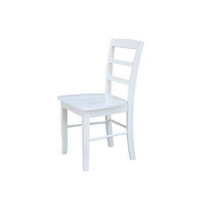Brianne Solid Wood Dining Chair Color: White