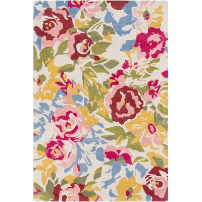 Venetia Floral Hand Tufted Wool Pale Pink/Pink Area Rug Rug Size: Rectangle 8 x 10