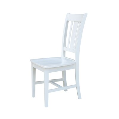Malcolm Solid Wood Dining Chair Color: White