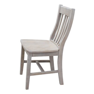 Toby Traditional Solid Wood Dining Chair Color: Weathered Gray