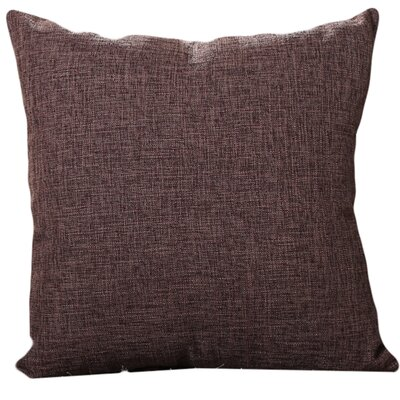 Criss Cotton Blend Pillow Cover Color: Brown, Size: 18 x 18