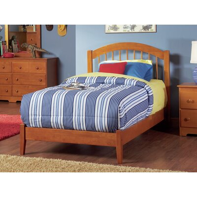 Chaplin Platform Bed Size: Twin, Color: Caramel Latte