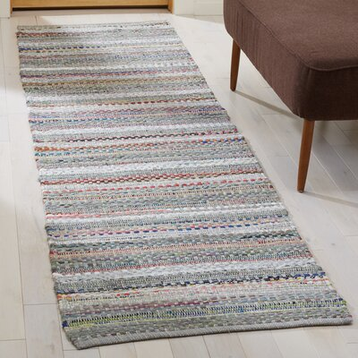 Vesey Hand-Woven Gray/Brown Area Rug Rug Size: Runner 23 x 8