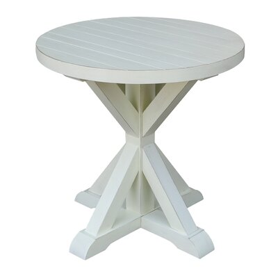 Philippine Round End Table Color: Sea Shell