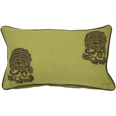 Bowen Fringed Cotton Lumbar Pillow Fill Material: Polyester