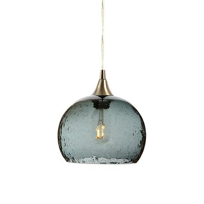 Wilcher 1-Light Mini Pendent Finish: Brushed Nickel, Shade Color: Gray