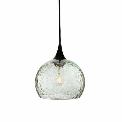 Wilcher 1-Light Mini Pendent Finish: Black, Shade Color: Clear