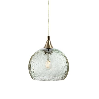 Wilcher 1-Light Mini Pendent Finish: Brushed Nickel, Shade Color: Clear