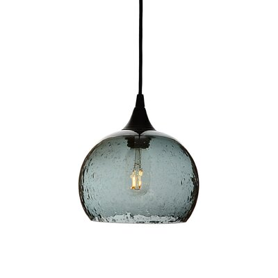 Wilcher 1-Light Mini Pendent Finish: Black, Shade Color: Gray