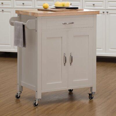 Philomene Contemporary Wood Kitchen Cart Base Finish: Gray