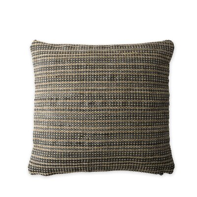 Haddon Handwoven Indoor/Outdoor Pillow Cover Color: Brown
