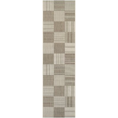 Marche Beige/Ivory Indoor/Outdoor Area Rug Rug Size: Runner 22 x 71
